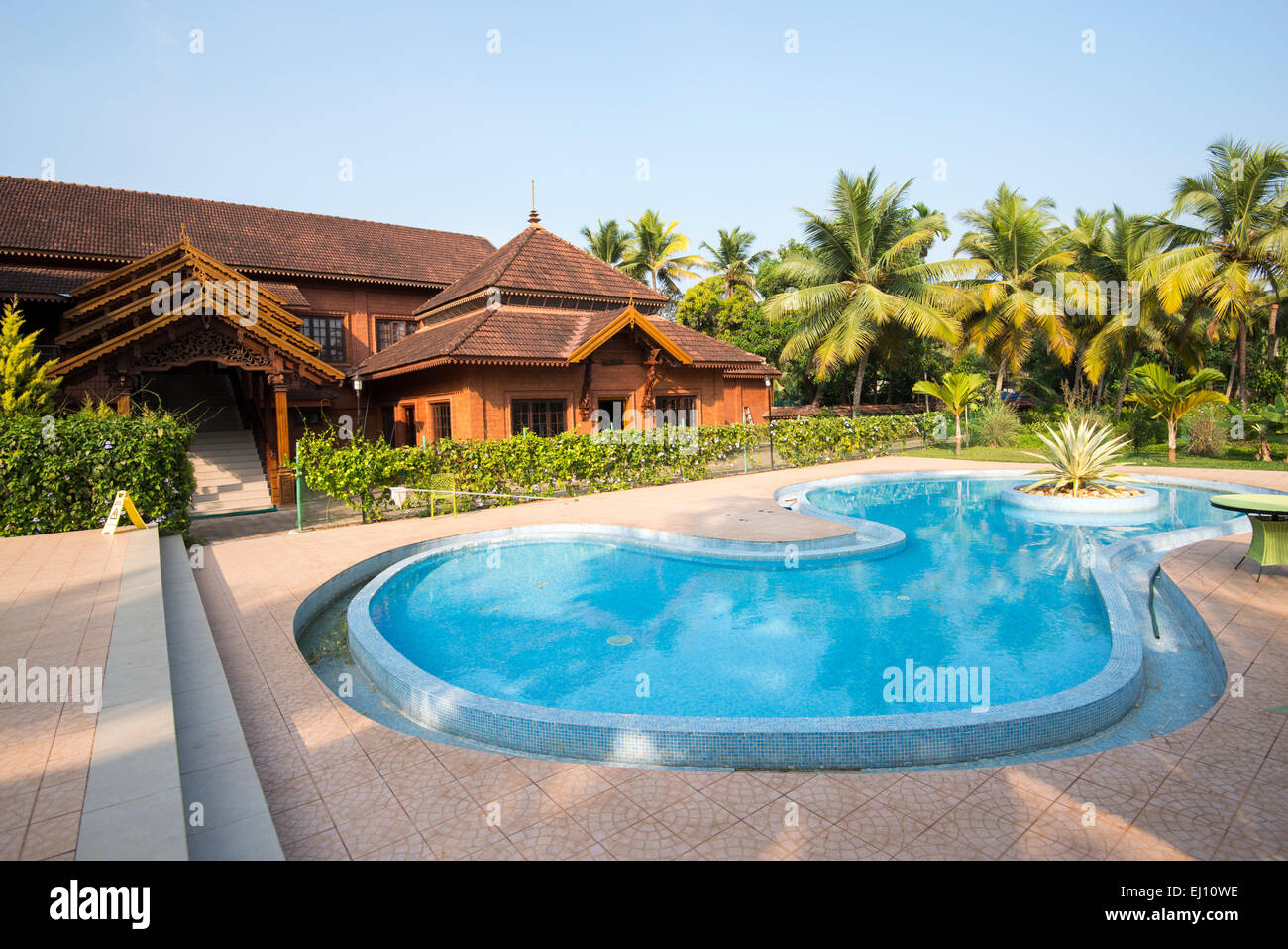 Outdoor Swimming Pool At The Eastend Lakesong Resort In Kumarakom Stock Photo Royalty Free