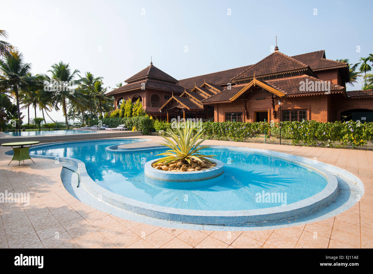 outdoor swimming pool at the eastend lakesong resort in kumarakom stock photo 79928310 alamy
