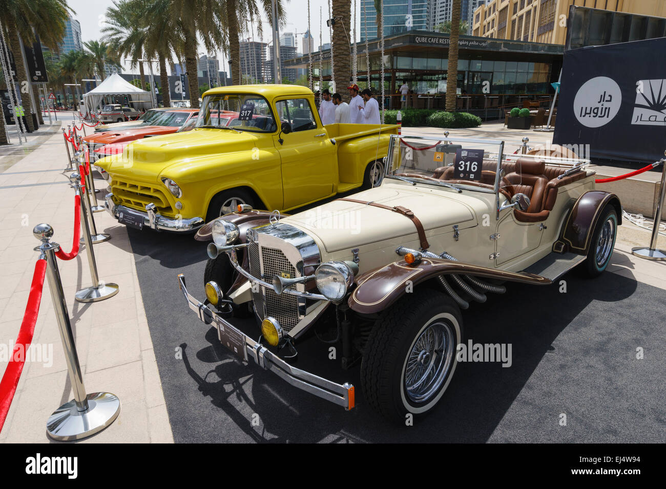 Vintage Cars On Display At The Emirates Classic Car Festival March
