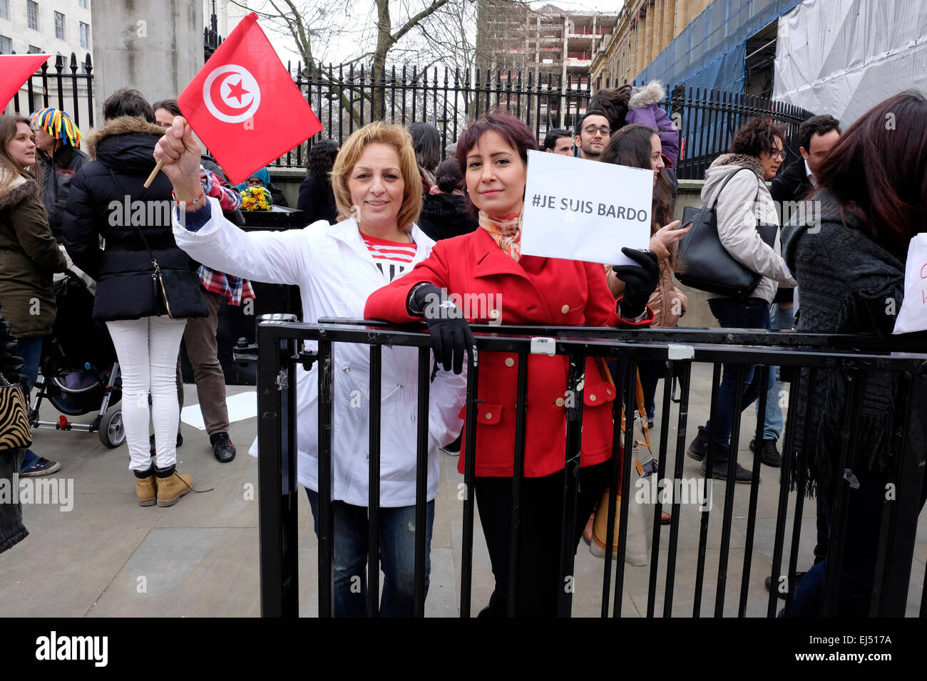 Two Tunisian women protesters in central London Stock ...