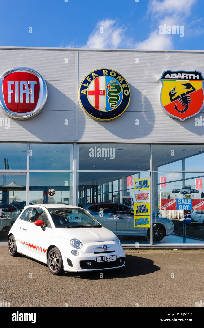 Fiat Abarth Outside A Fiat Showroom Stock Photo Royalty Free - Fiat dealers in london