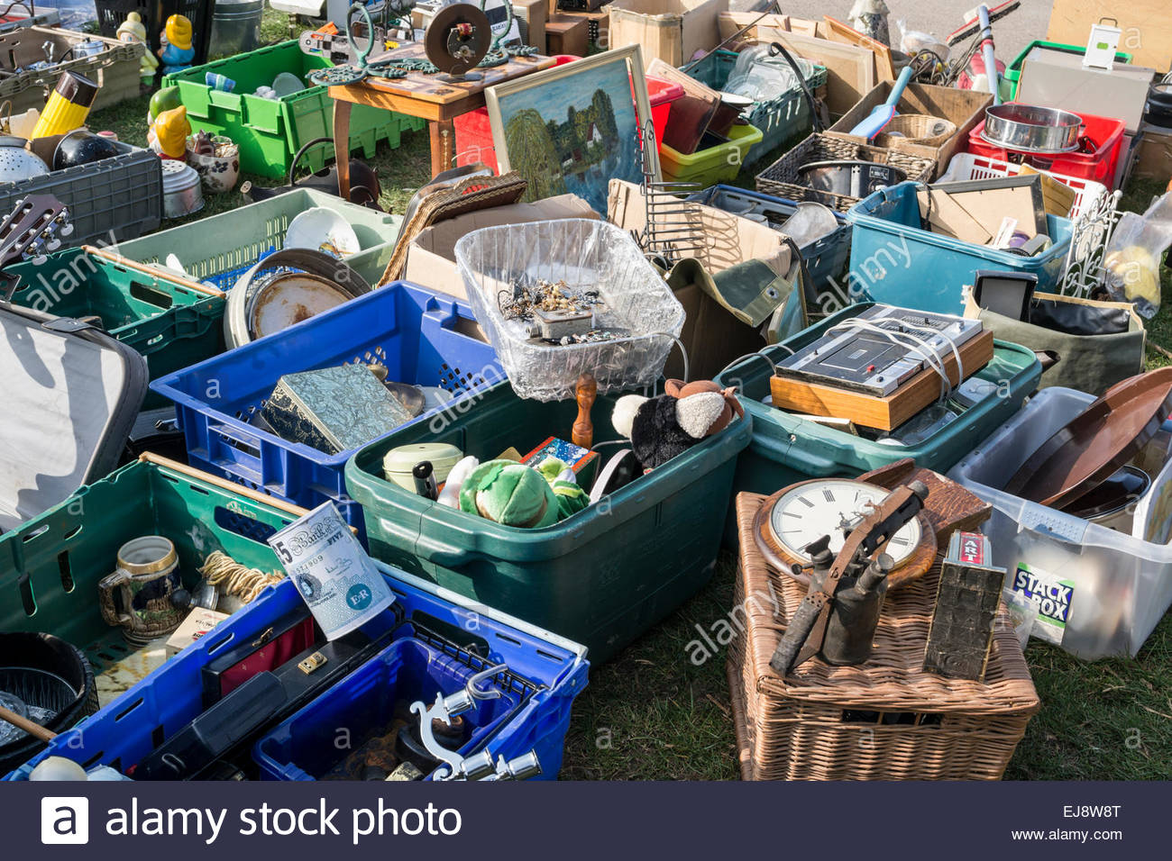 bric a brac items for sale on a market stall stock photo royalty free image 80100744 alamy. Black Bedroom Furniture Sets. Home Design Ideas