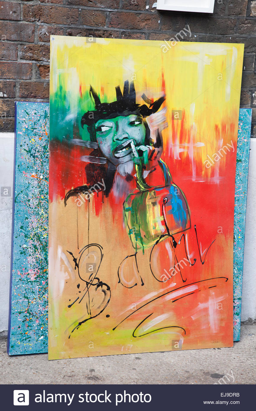 painting at art corner backyard market brick lane shoreditch
