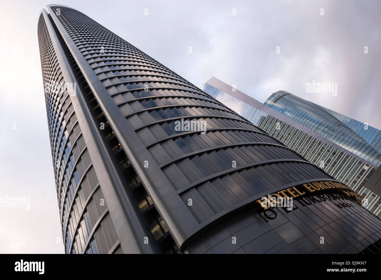 stock photo torre espacio torre de cristal and torre pwc in cuatro torres business area a business district in madrid