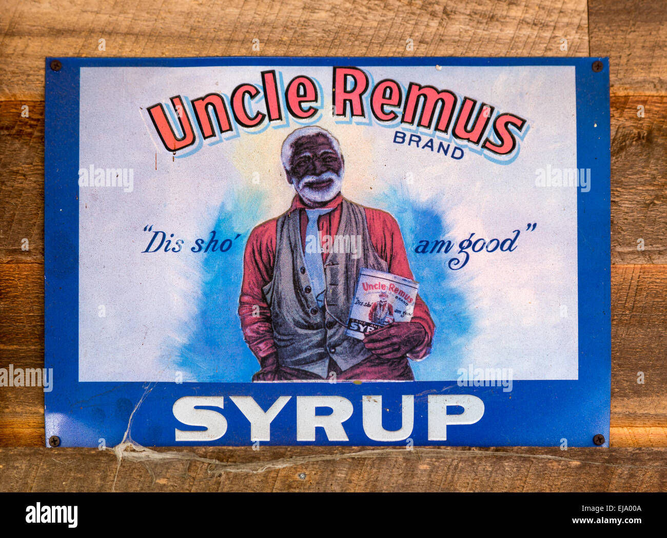 Wonderful image of Old Racist Advert For Uncle Remus Syrup Stock Photo Royalty Free  with #0A3F8F color and 1300x1050 pixels