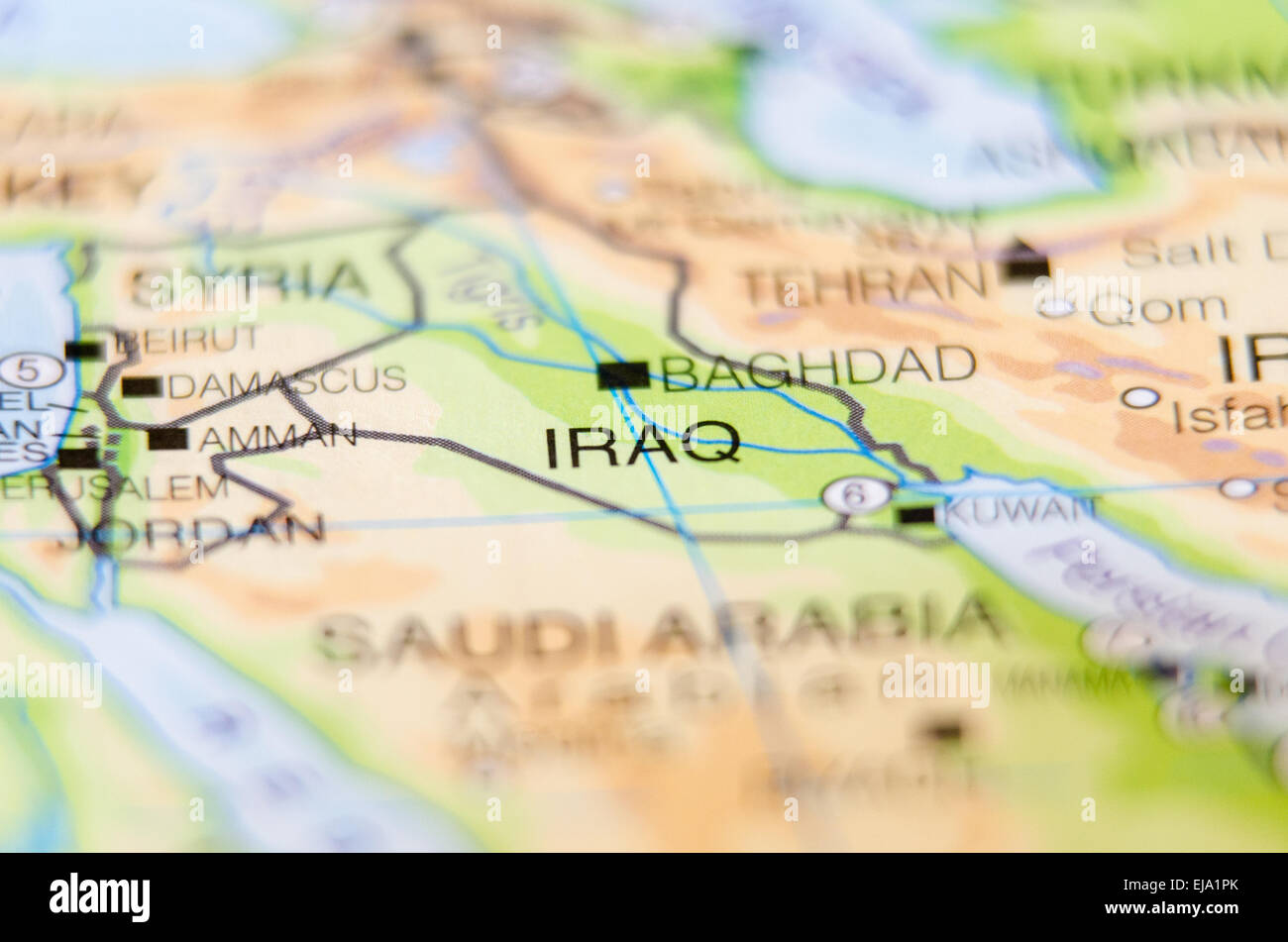Iraq country on map stock photo 80126219 alamy iraq country on map gumiabroncs Choice Image