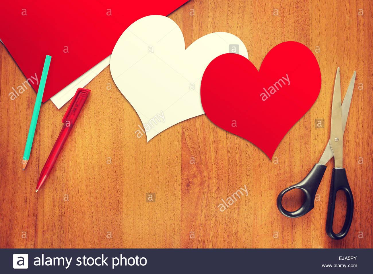 Two paper hearts symbols of love stock photo royalty free image two paper hearts symbols of love biocorpaavc