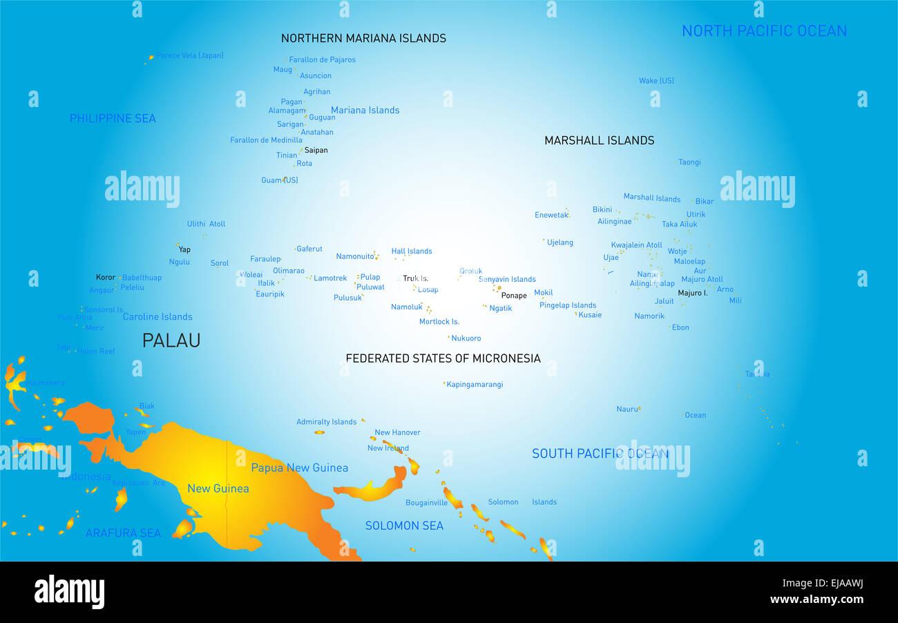 Palau Map Stock Photo Royalty Free Image Alamy - Palau map