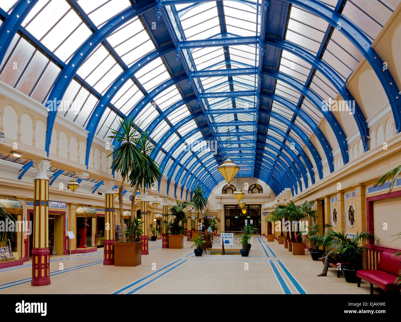 the art deco arcade at the entrance to blackpool winter gardens an