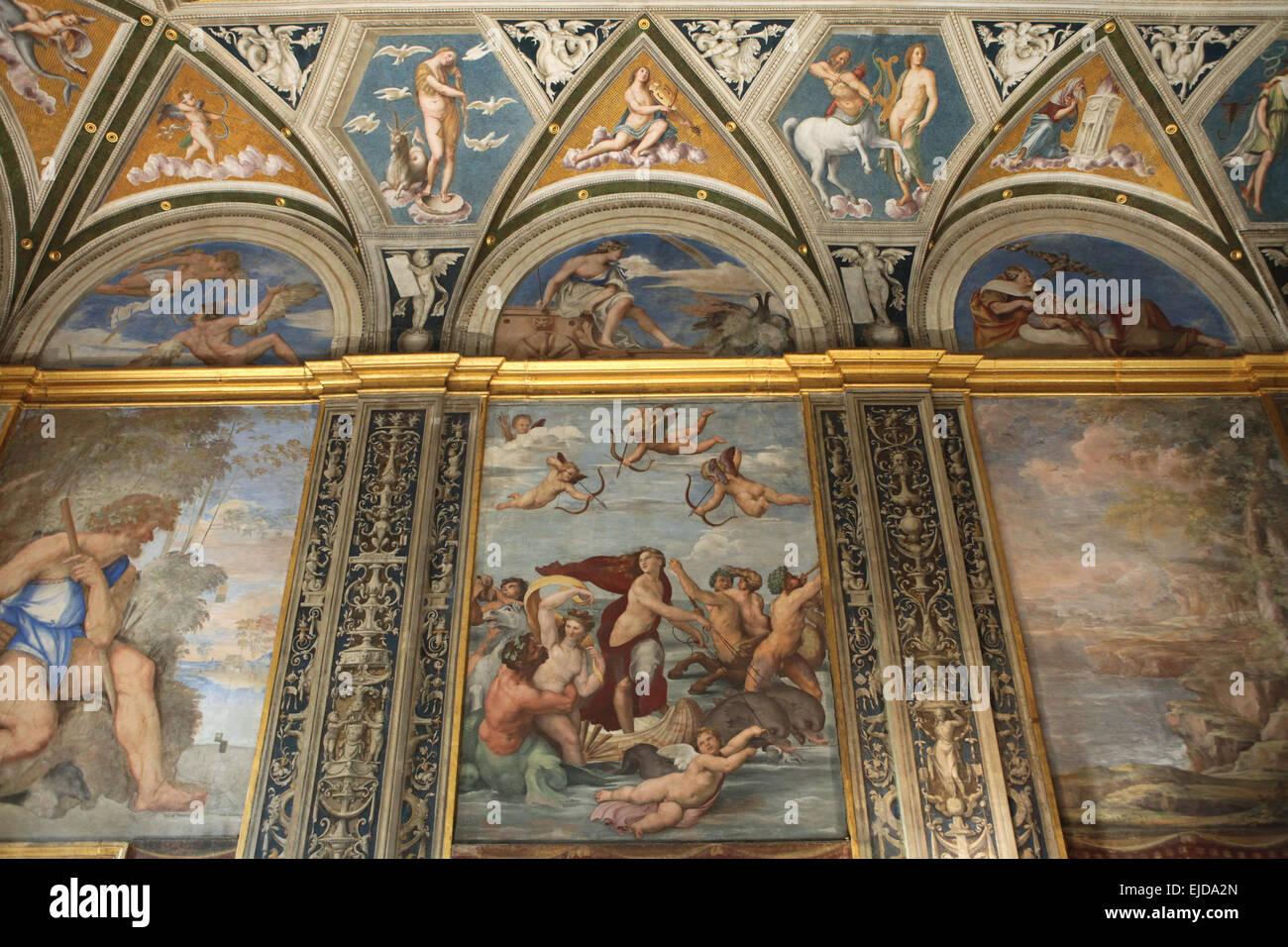 triumph of galatea. frescoraphael at the loggia of galatea in
