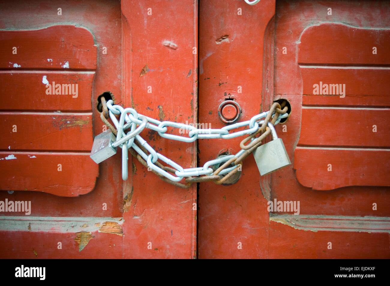 Stock Photo - padlock padlocked padlocks chain up lock locks locked security secure gate gates door doors secured against theft thieve thieves & padlock padlocked padlocks chain up lock locks locked security ... Pezcame.Com
