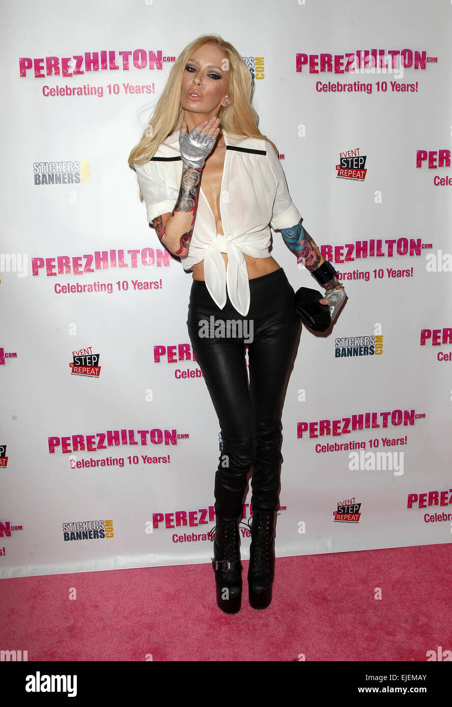 Perez Hilton 10th Anniversary Party Arrivals Featuring