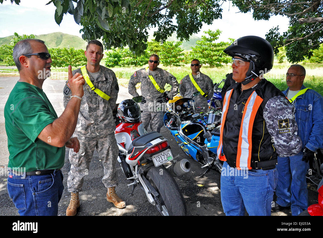 Superb Rider Safe #4: Puerto Rico National Guard Citizen-soldiers Attend A Motorcycle Rider Safety  Course At Camp Santiago