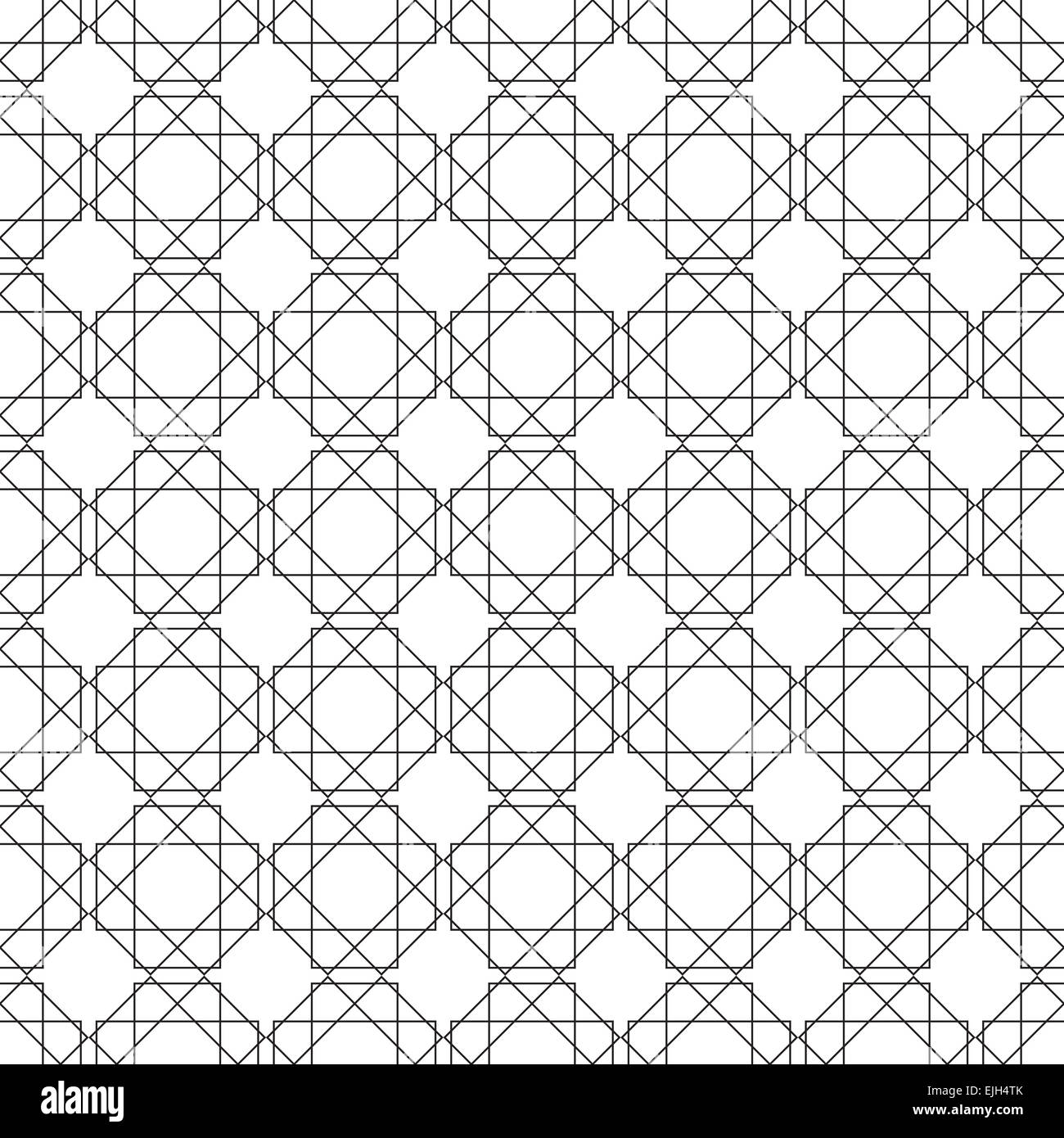 Symmetrical Geometric Shapes Black And White Vector Textile Backdrop. Can  Be Use As Fabric, Tablecloth Pattern