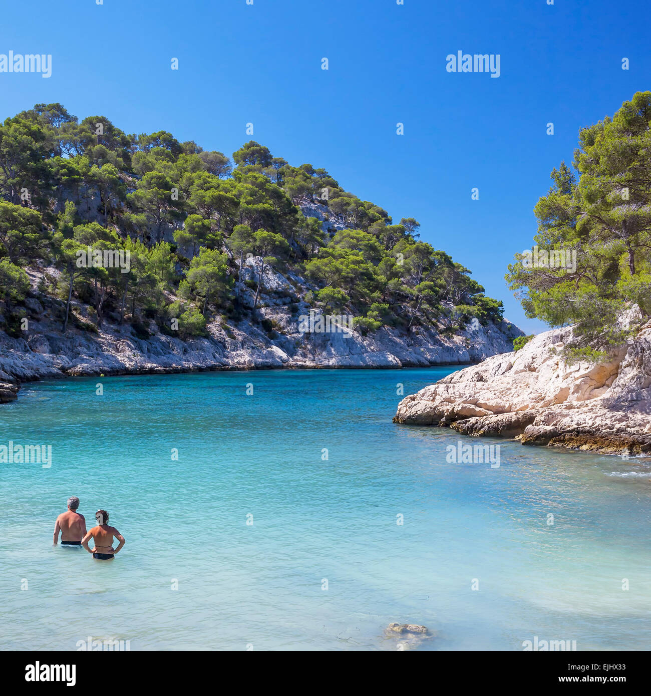 the famous calanques national park of cassis france stock