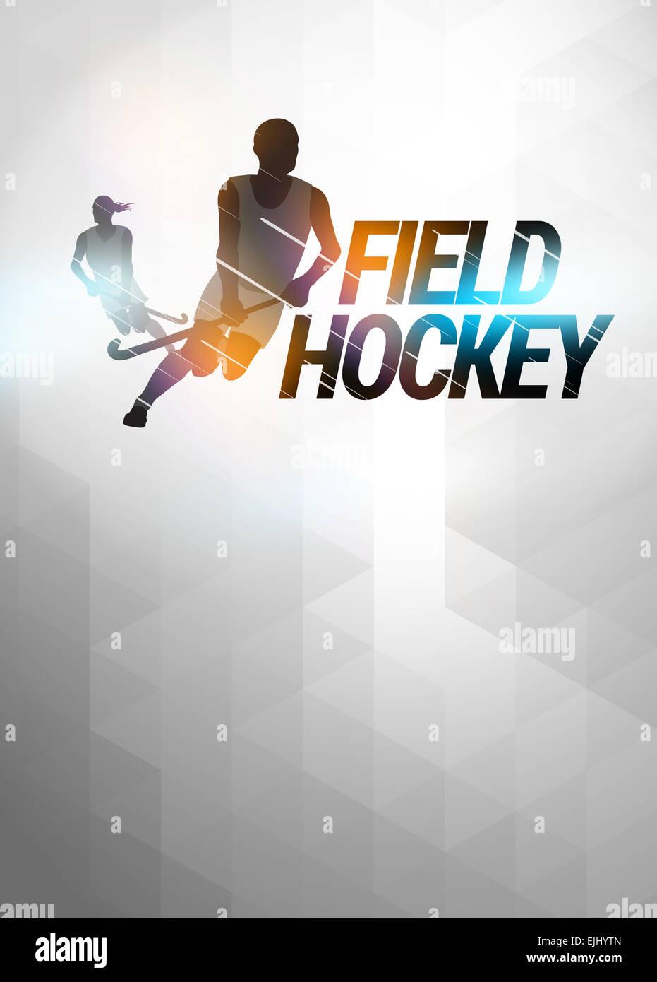 Field hockey sport invitation poster or flyer background ...