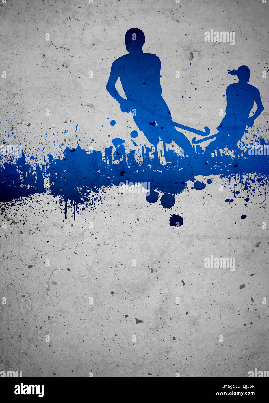 field hockey sport invitation poster or flyer background