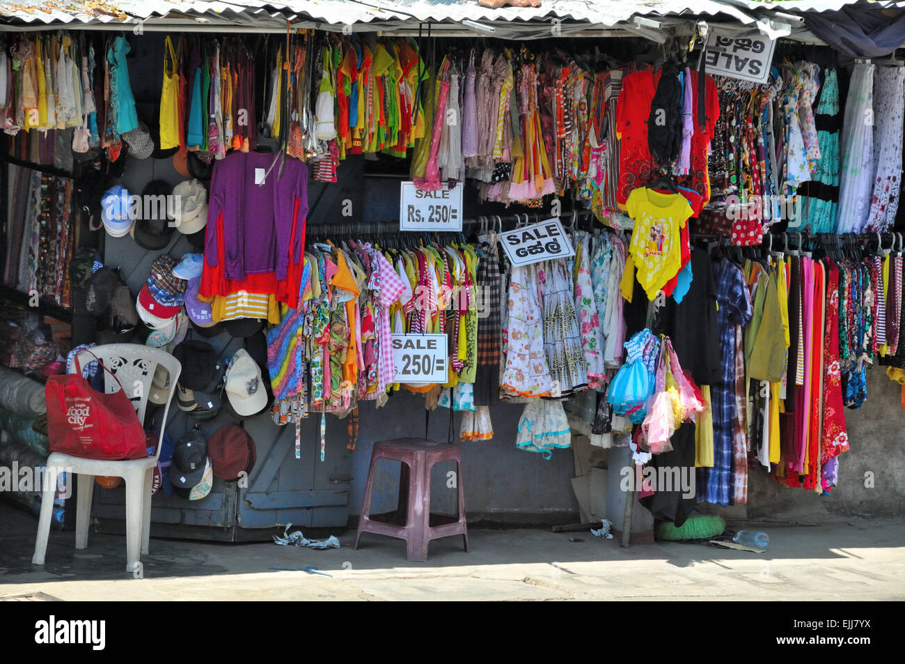 local clothing shop trincomalee sri lanka stock photo
