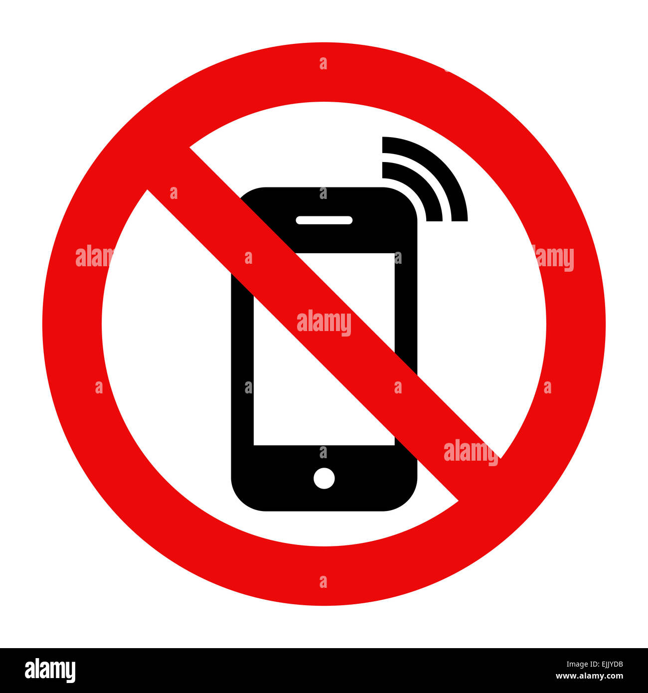 No cell phone sign black and white fieldstation no buycottarizona
