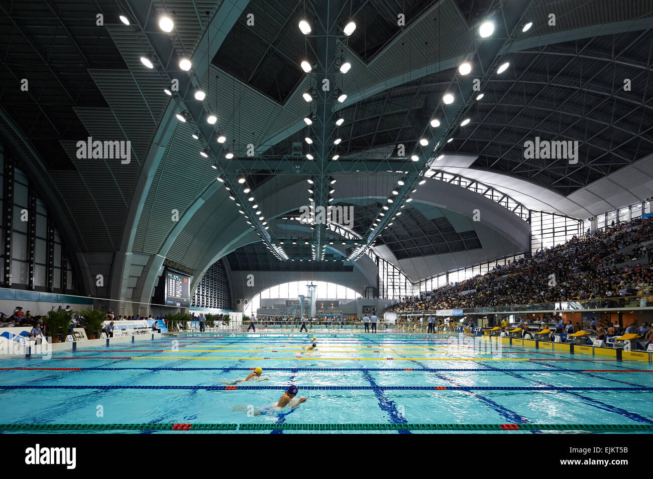 tatsumi international swimming pool tokyo japan 28th mar 2015 general view march 28 2015 swimming the 37th joc junior olympic cup at tatsumi