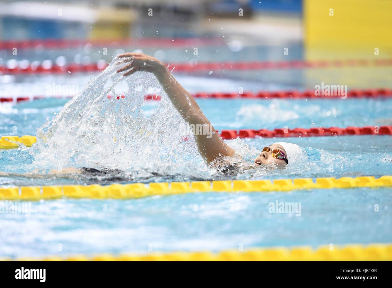 tatsumi international swimming pool tokyo japan 28th mar 2015 suzuka onodera march 28 2015 swimming the 37th joc junior olympic cup womens 400m