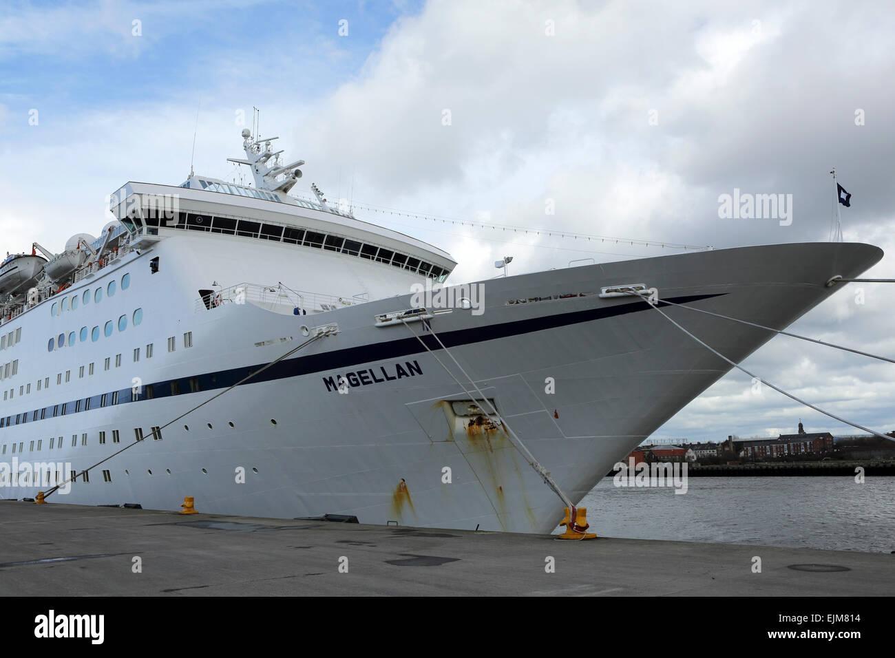 The MS Magellan Cruise Ship Docked At The Port Of Tyne England - Magellan cruise ship