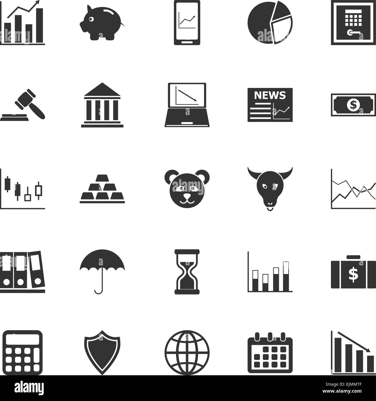 Bull Bear Market Logo Vector Icon