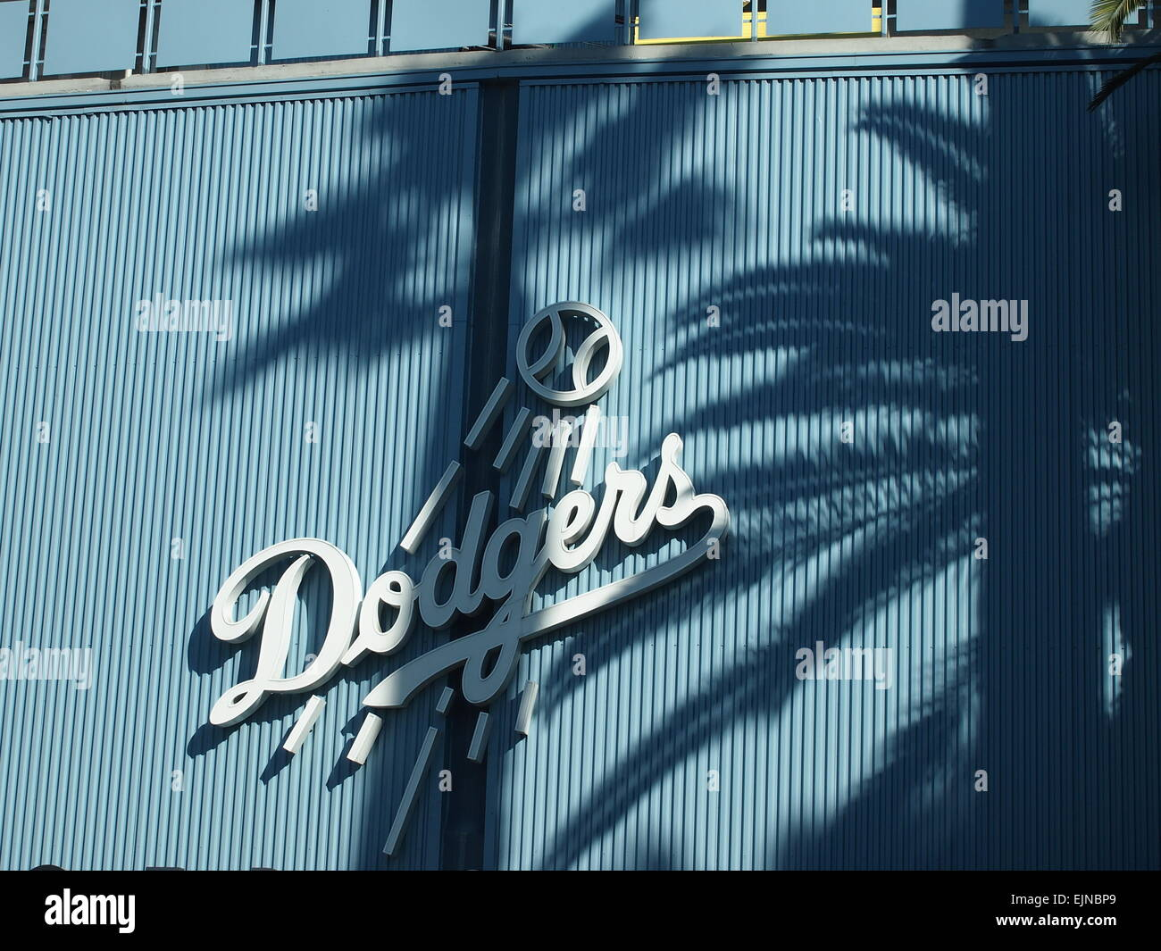 Dodgers stock photos dodgers stock images alamy palm tree shadows on the front of dodgers stadium los angeles usa stock buycottarizona Image collections