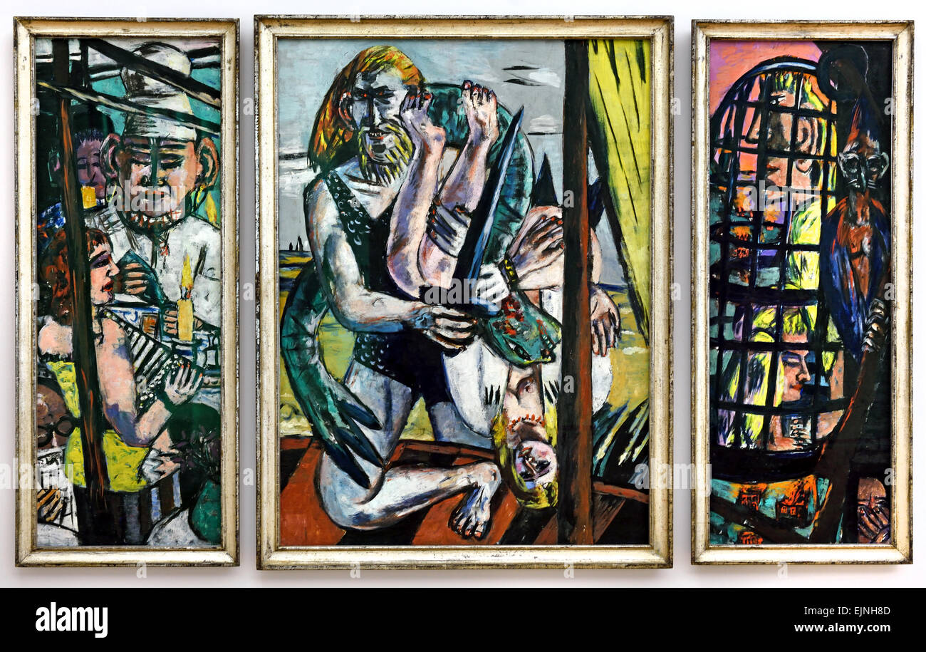 perseus triptychon 1941 max beckmann 1884 1950 german germany stock photo royalty free image. Black Bedroom Furniture Sets. Home Design Ideas
