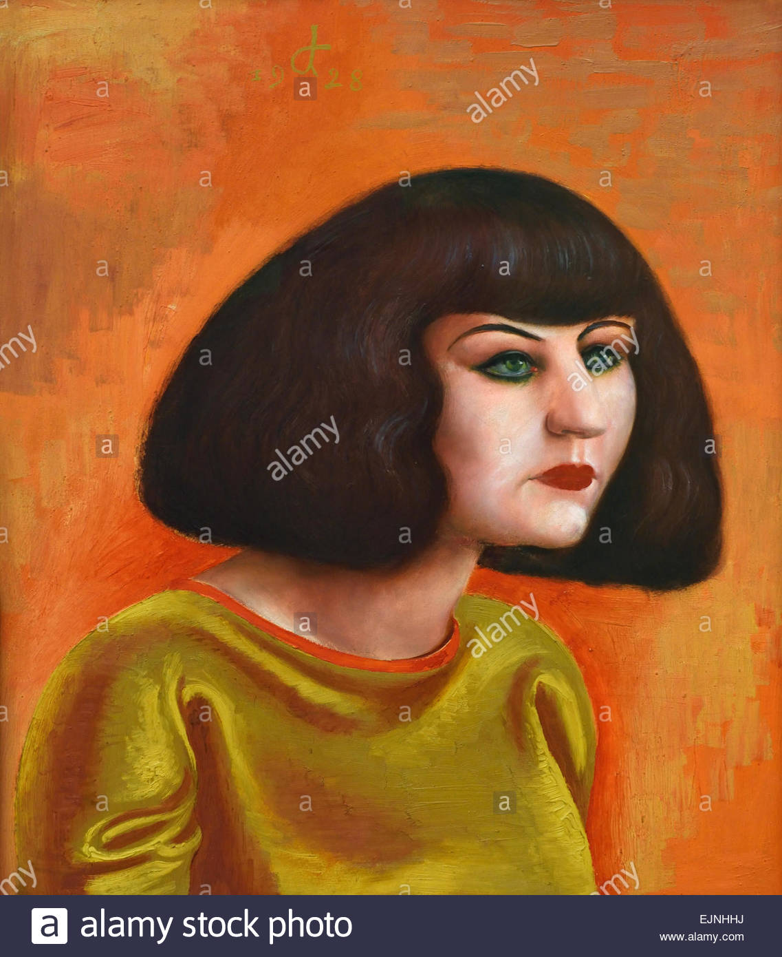 Bien-aimé portrait Martha Dix 1928 Otto Dix 1891-1969 German Germany Stock  SY36