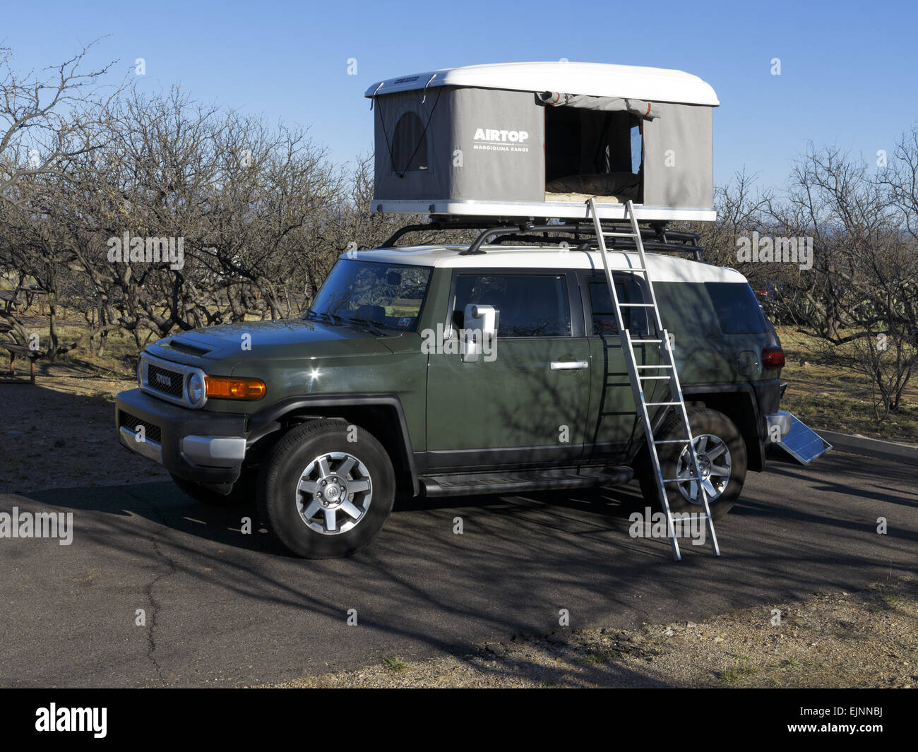 Airtop Maggiolina roof tent on top of a Toyota FJ Cruiser. Arizona united states 2015 & Airtop Maggiolina roof tent on top of a Toyota FJ Cruiser. Arizona ...