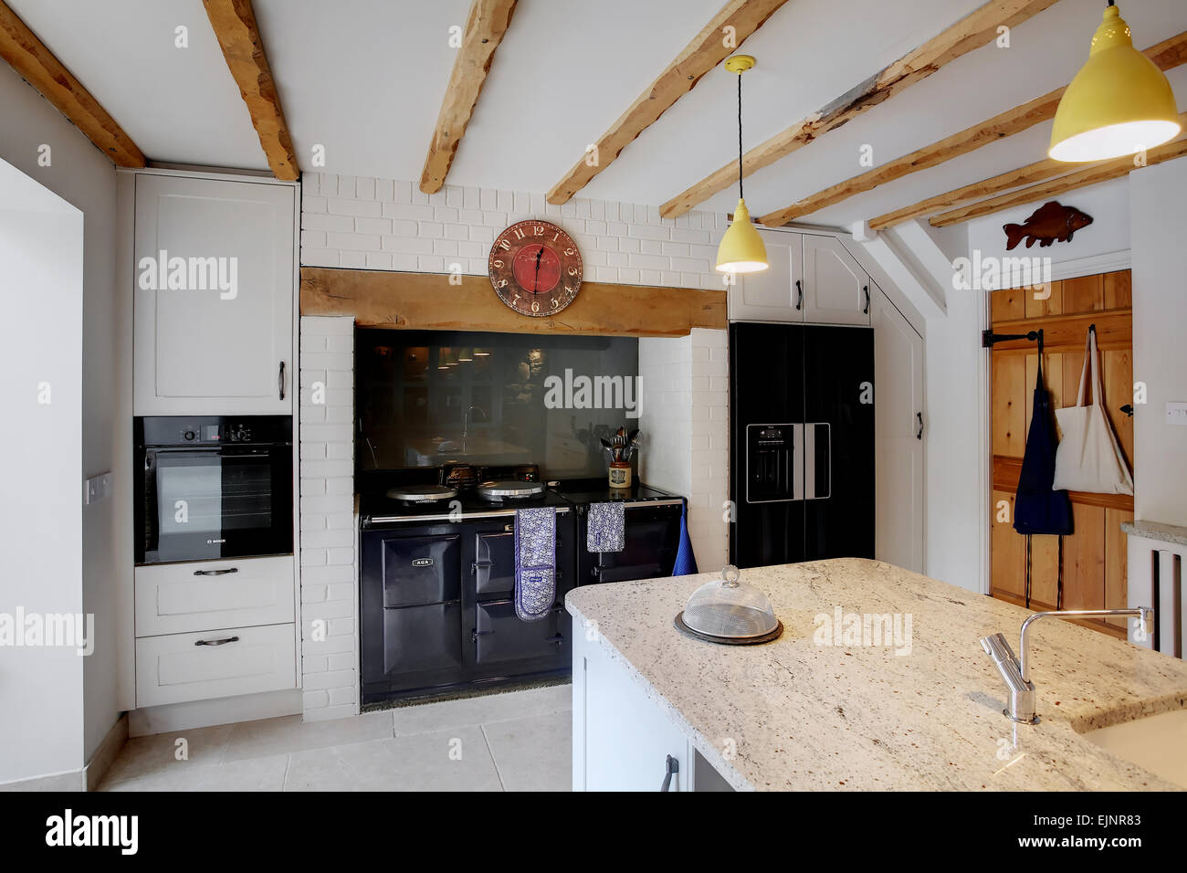 Aga Kitchen Design Uk a traditional style kitchen inside a farmhouse in the uk with a