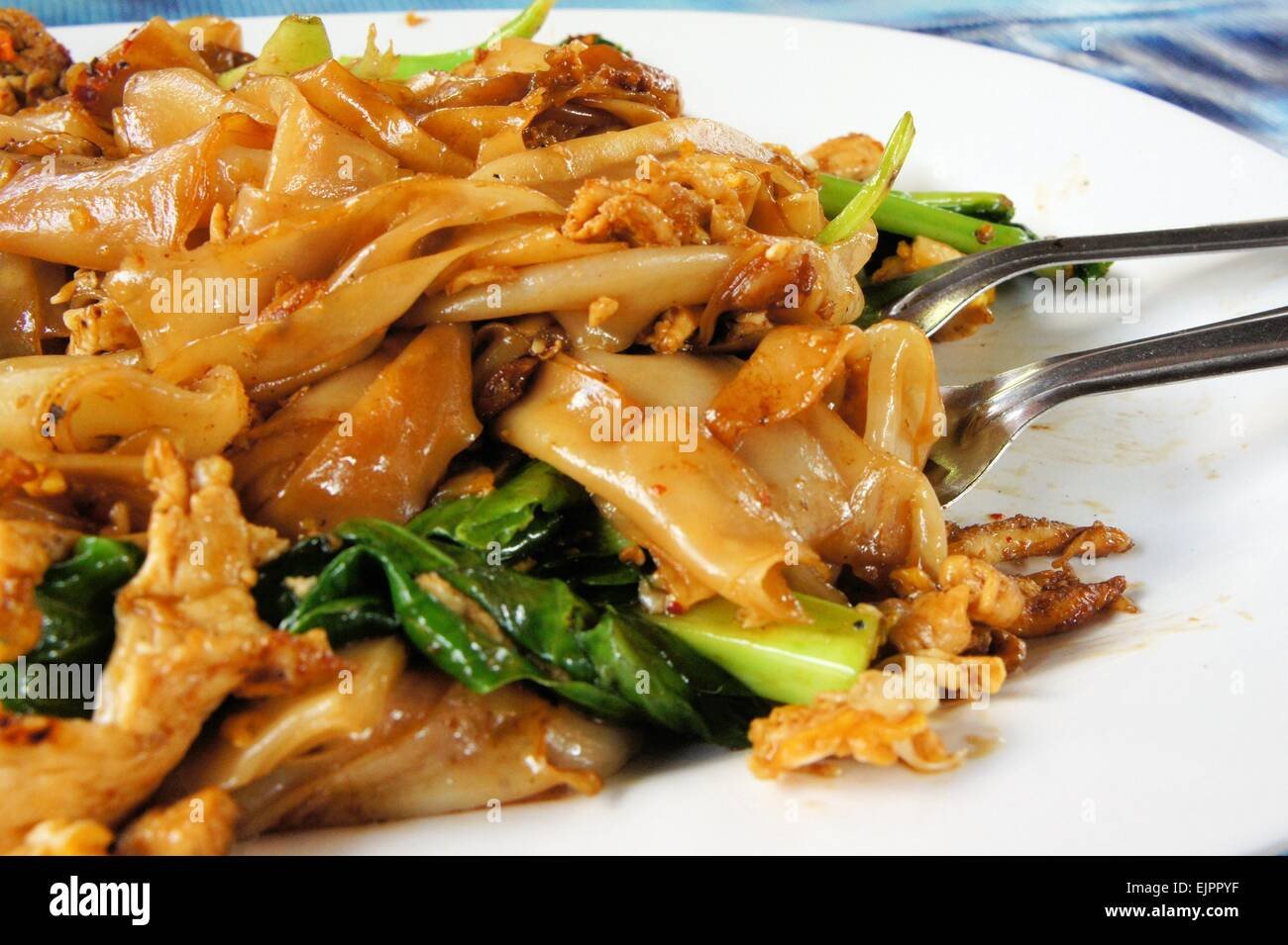 Pad see ew flat rice noodle stir fried with beef stock photo pad see ew flat rice noodle stir fried with beef ccuart Choice Image