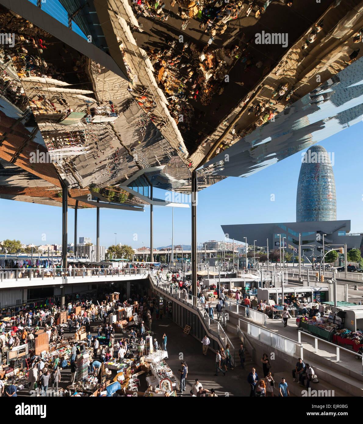 Encants bellcaire flea market barcelona spain architect - Encantes barcelona ...