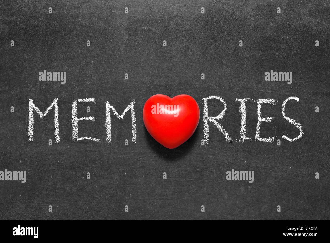 Memories word handwritten on chalkboard with heart symbol instead memories word handwritten on chalkboard with heart symbol instead of o biocorpaavc
