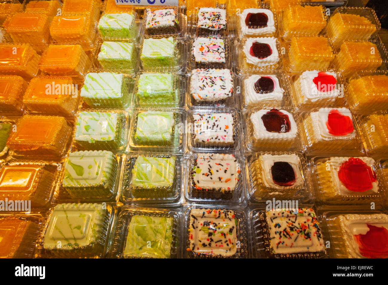 Thailand Chiang Mai Warorot Market Thai Cakes And Desserts