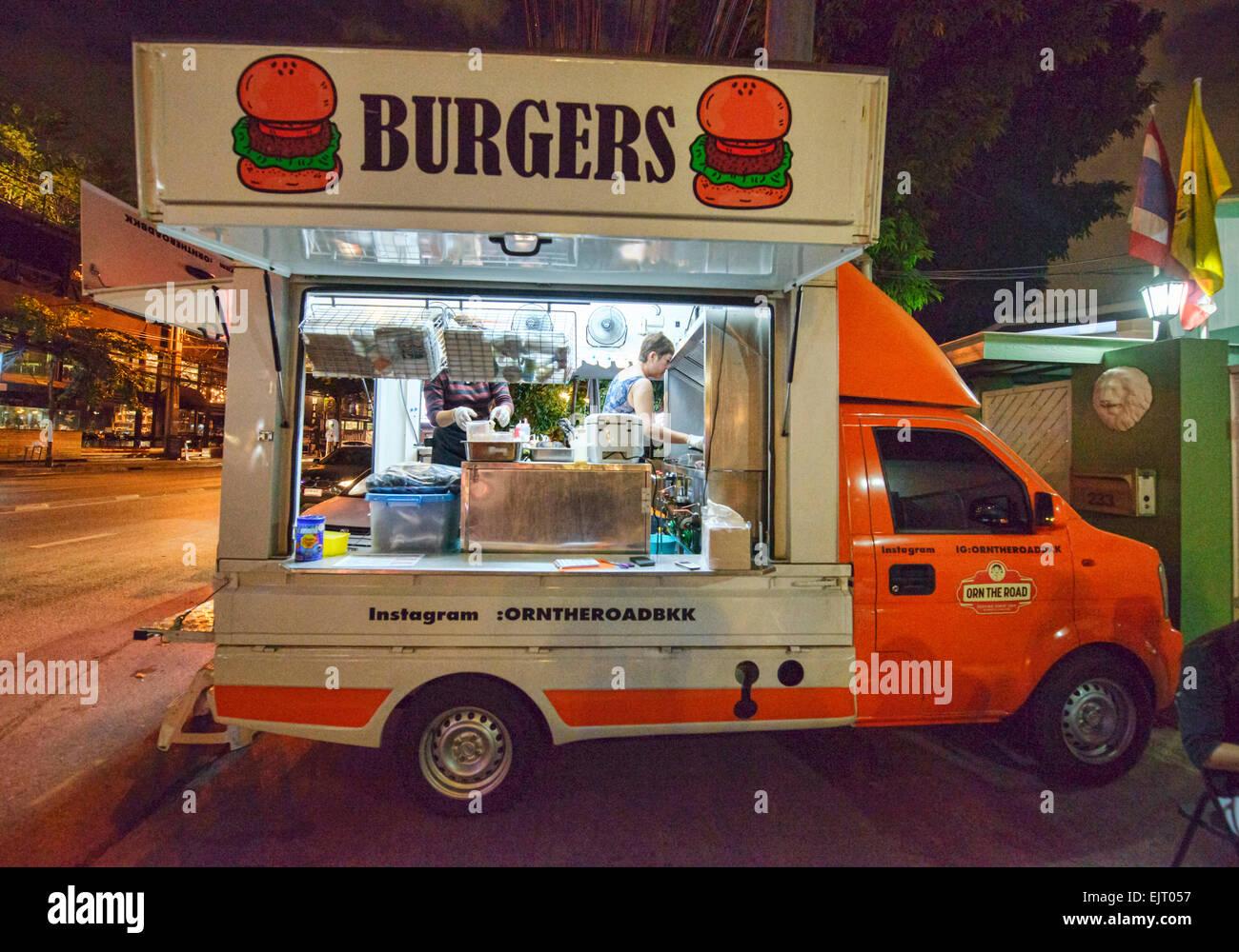 Hamburger Food Truck Bangkok Thailand