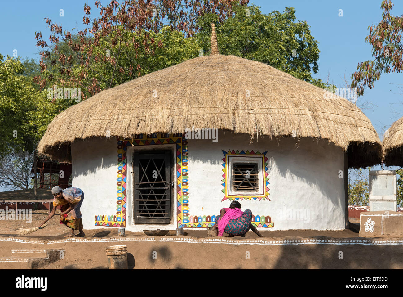 Traditional meghwal banni tribal house from gujarat for Tribal house