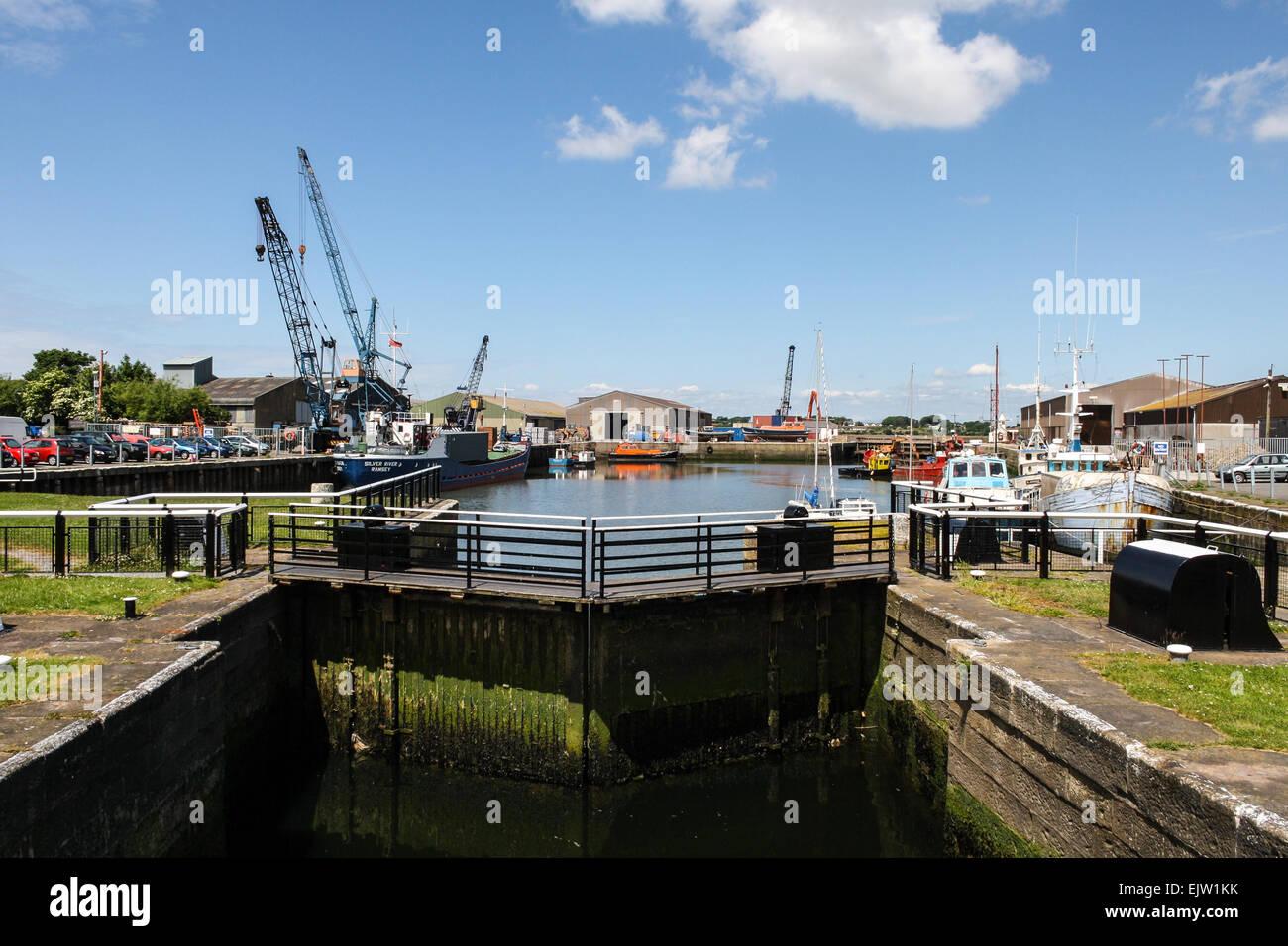 Glasson dock near lancaster on the lune estuary for Fishing docks near me