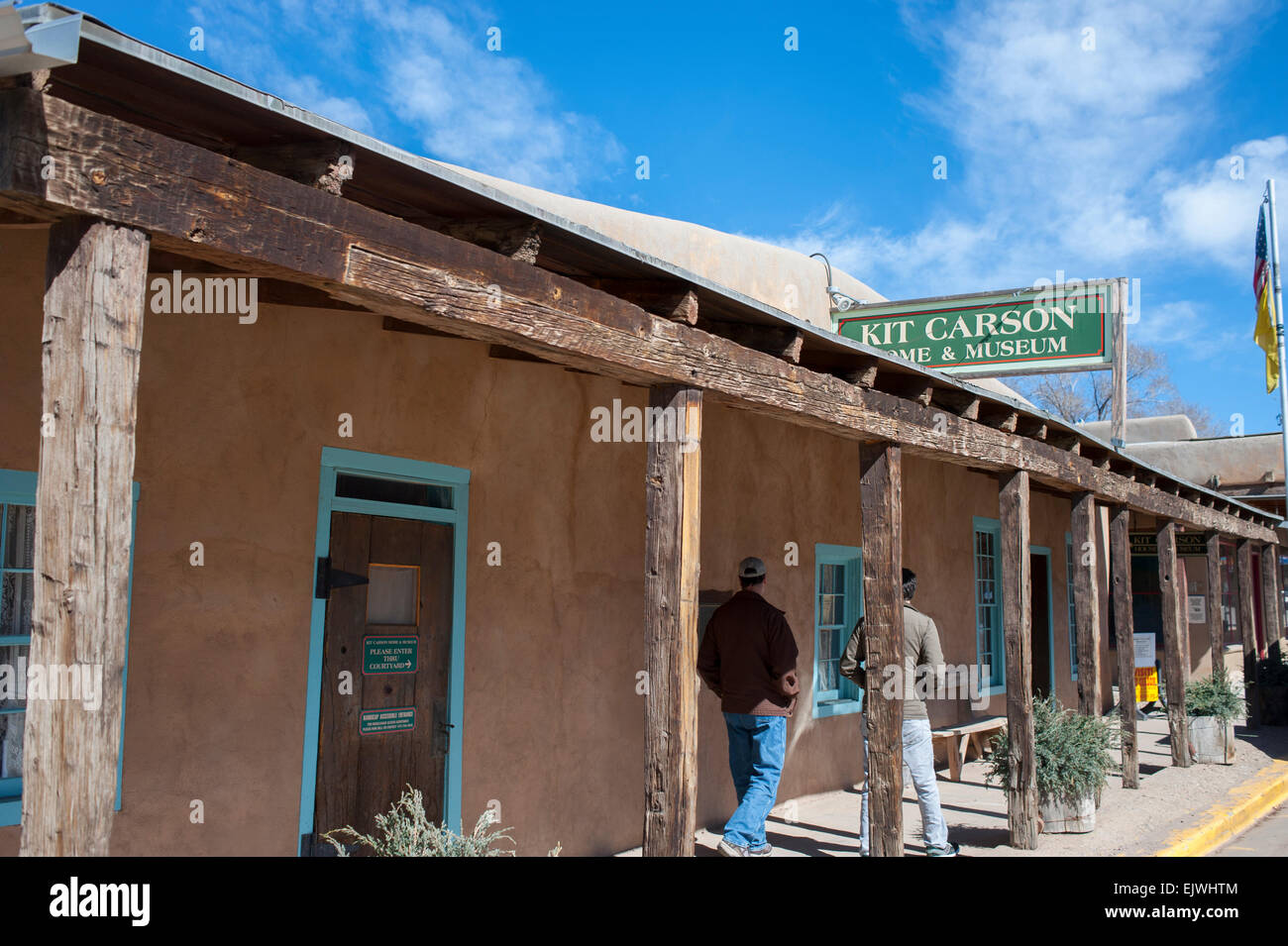 New mexico taos county carson - Stock Photo Usa New Mexico Nm Taos Kit Carson Home And Museum In Taos County