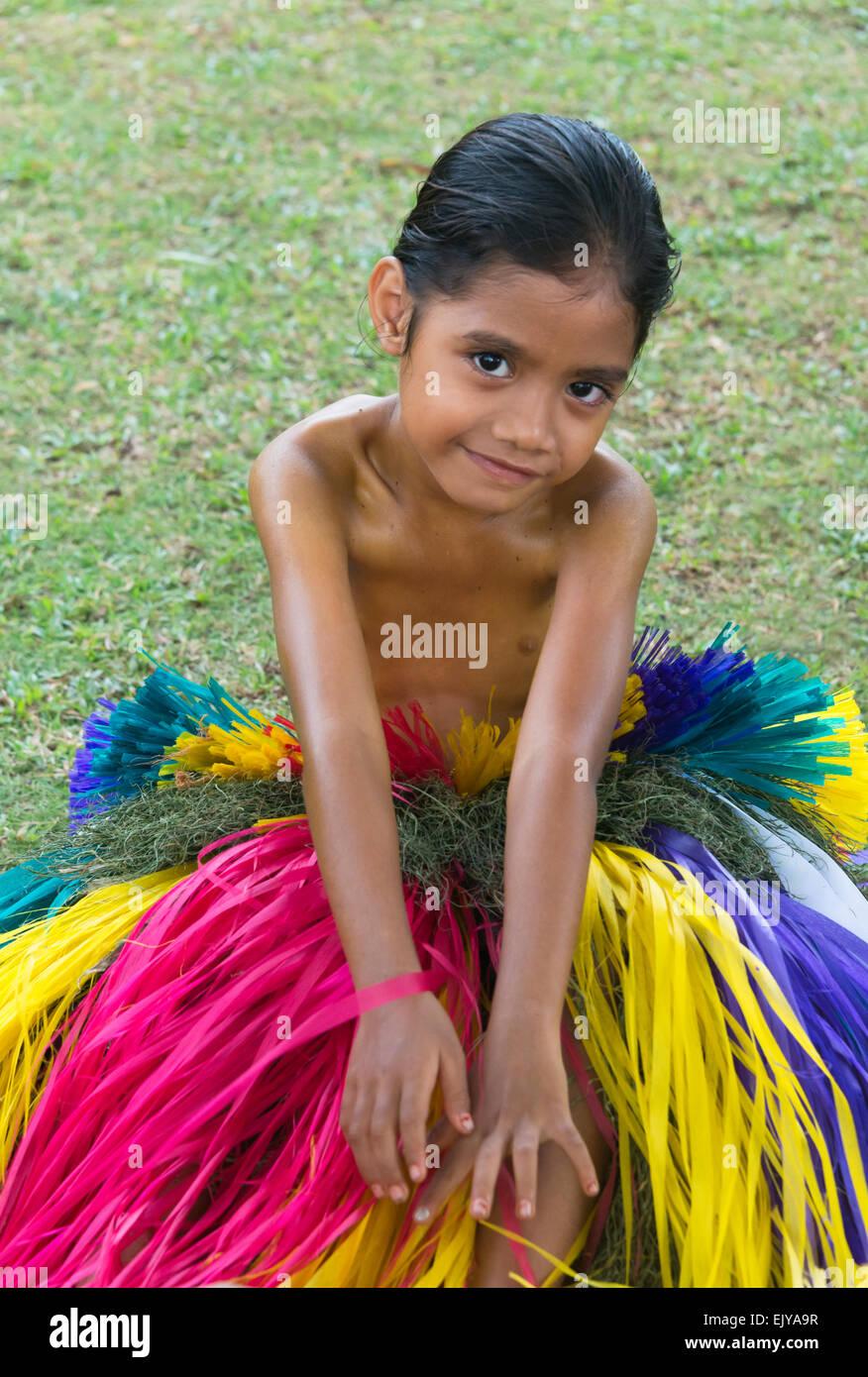 Island Girl Candy Mac Velvet Teddy Dupe: Yapese Girl Wearing Grass Skirt At Yap Day Festival, Yap