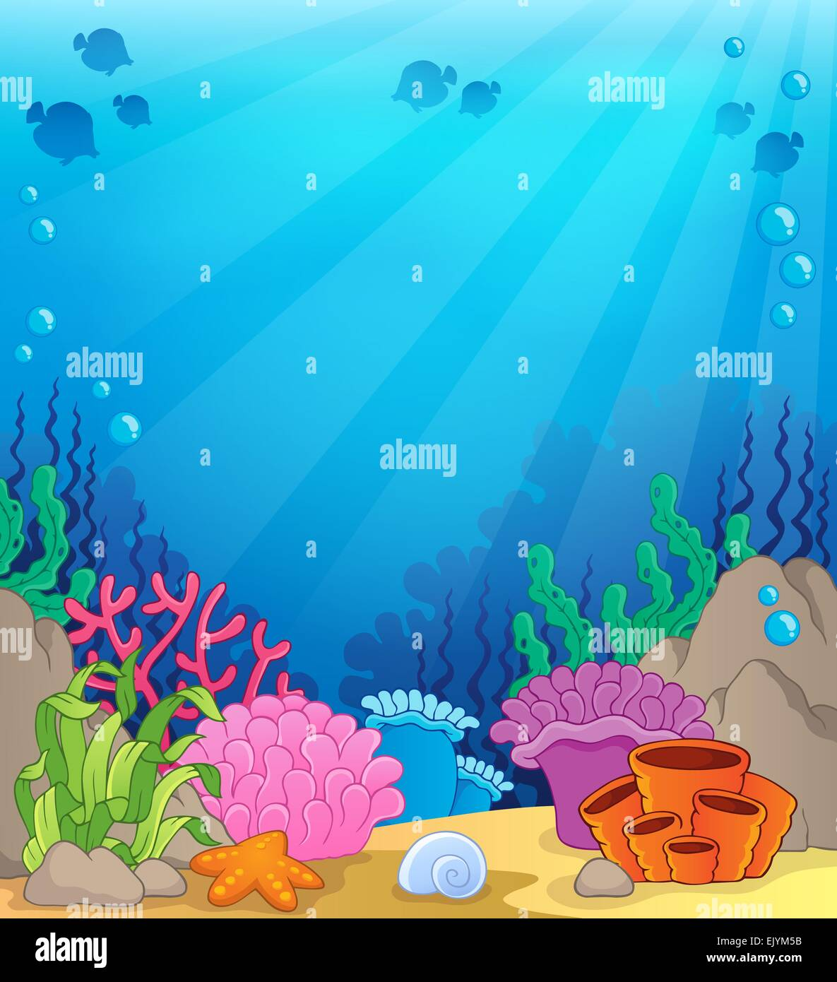 Ocean underwater theme background 4 - picture illustration ...