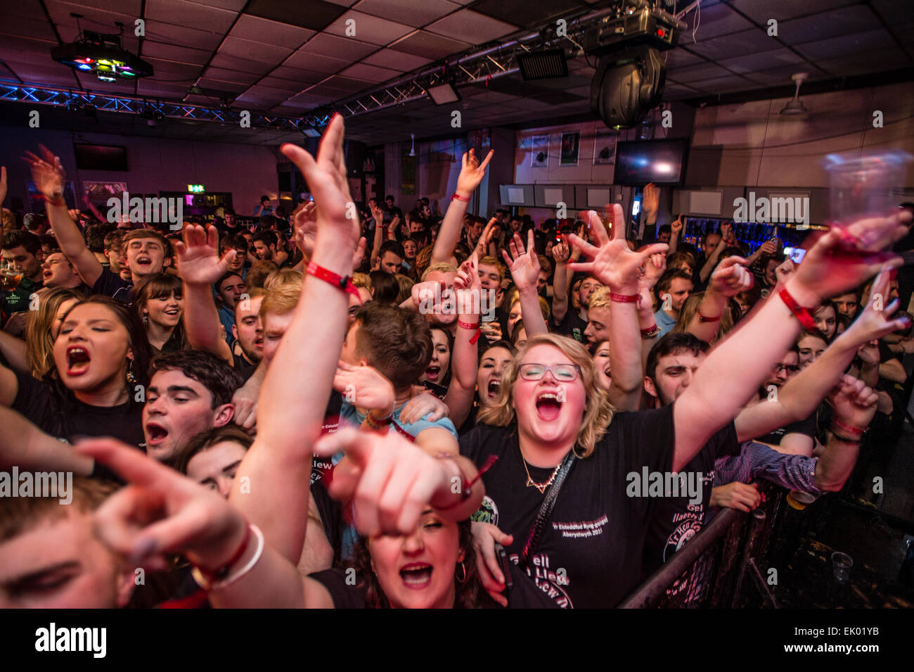 aberystwyth university student partying dancing