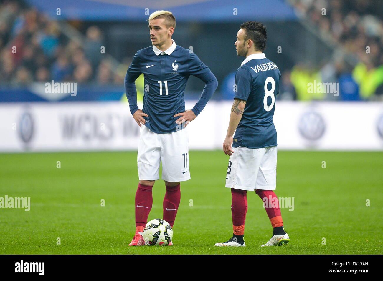 Antoine Griezmann Mathieu Valbuena 26 03 2015 France Bresil