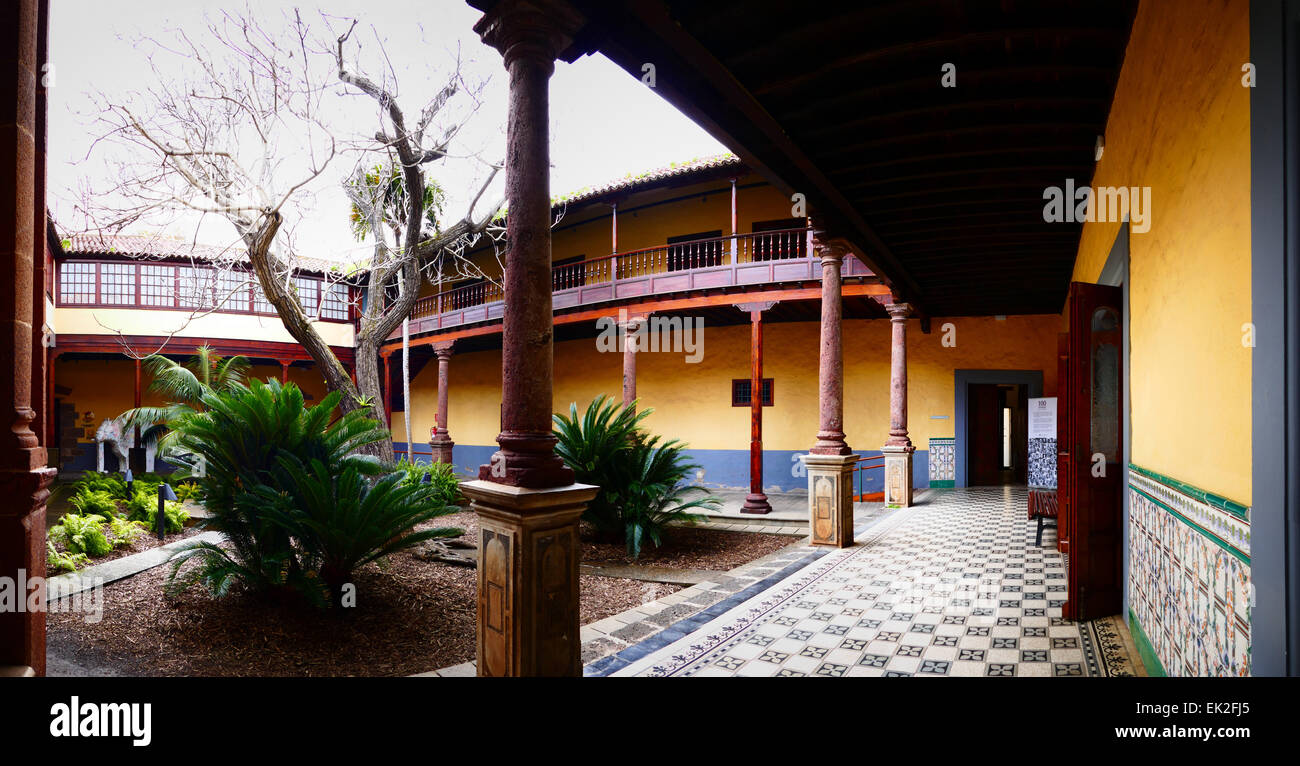 Spanish Colonial Style Patio Courtyard Old Town La Laguna Tenerife Island  Canary Islands Spain