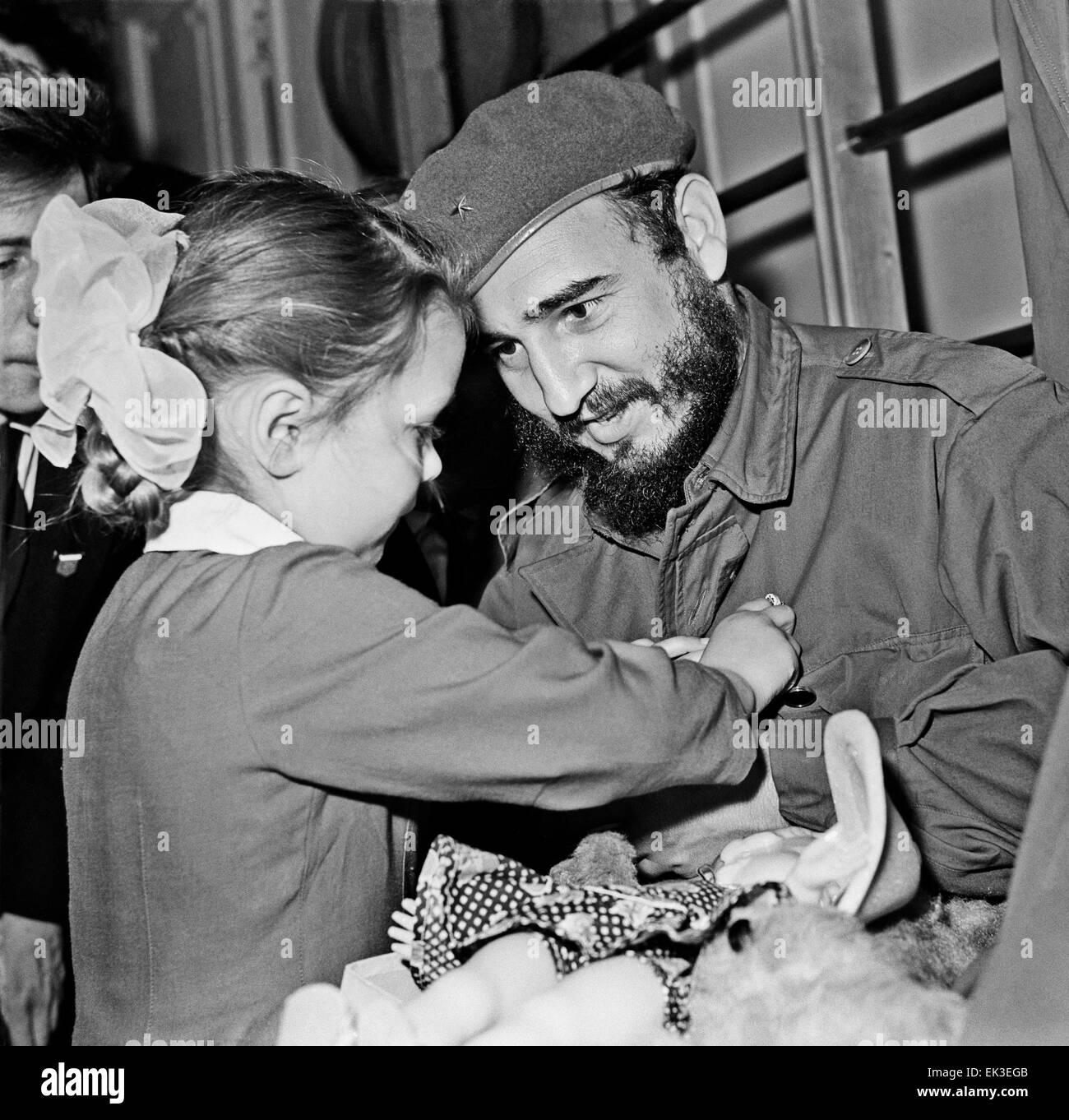 leningrad ussr fidel castro visit to ussr 1963 fidel