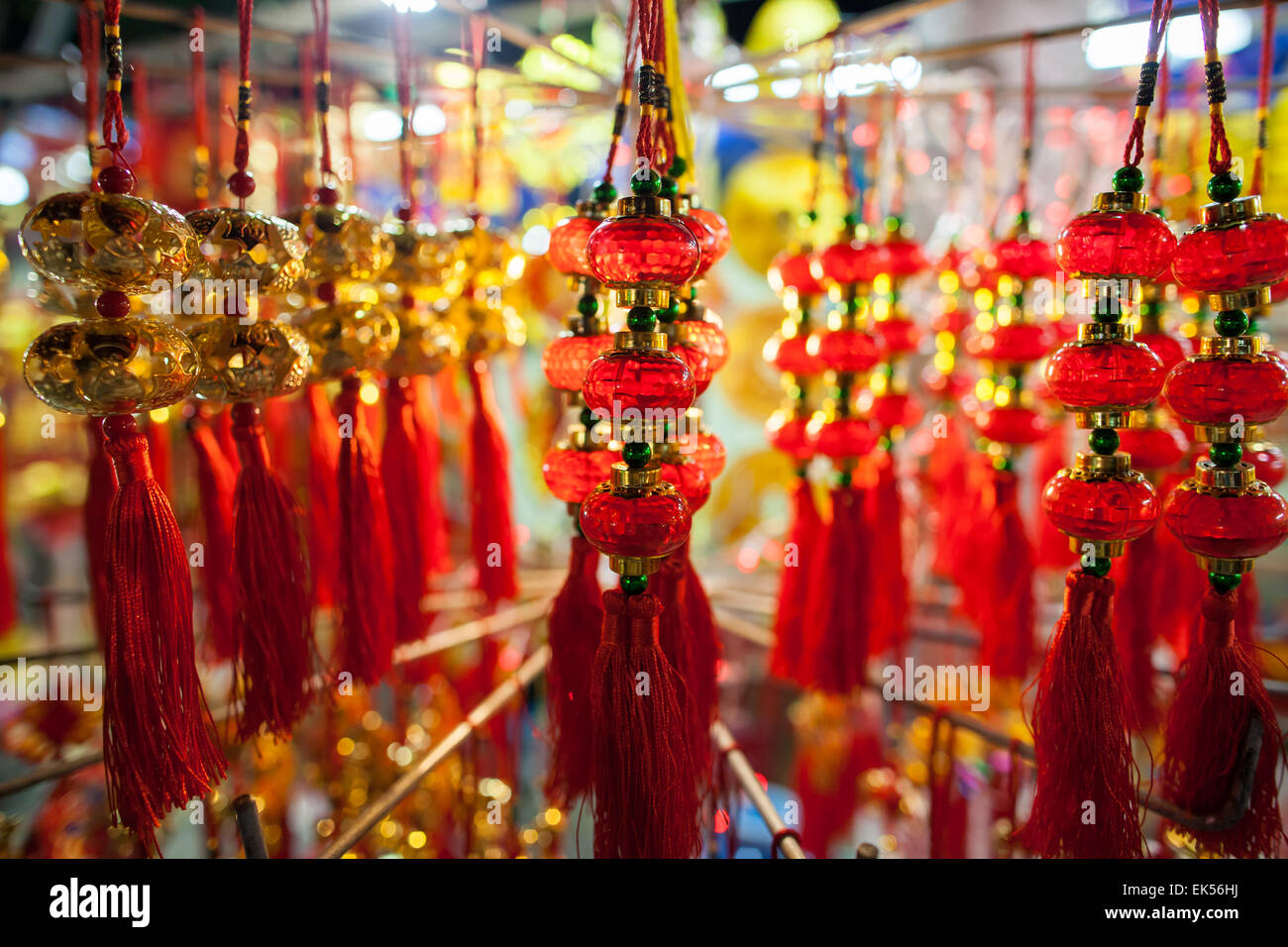 Stock Photo   Chinese New Year Decoration In Red And Gold Colours