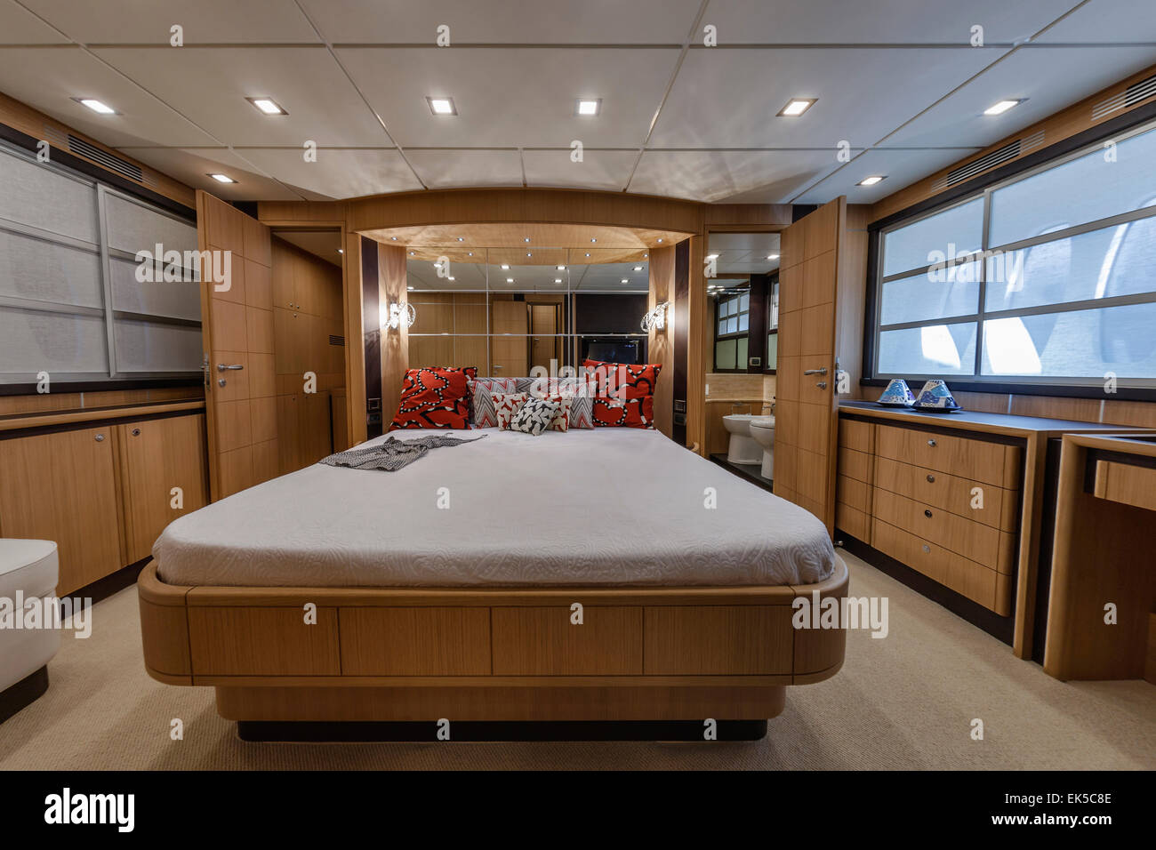 Italy Naples Abacus 70 Luxury Yacht Master Bedroom