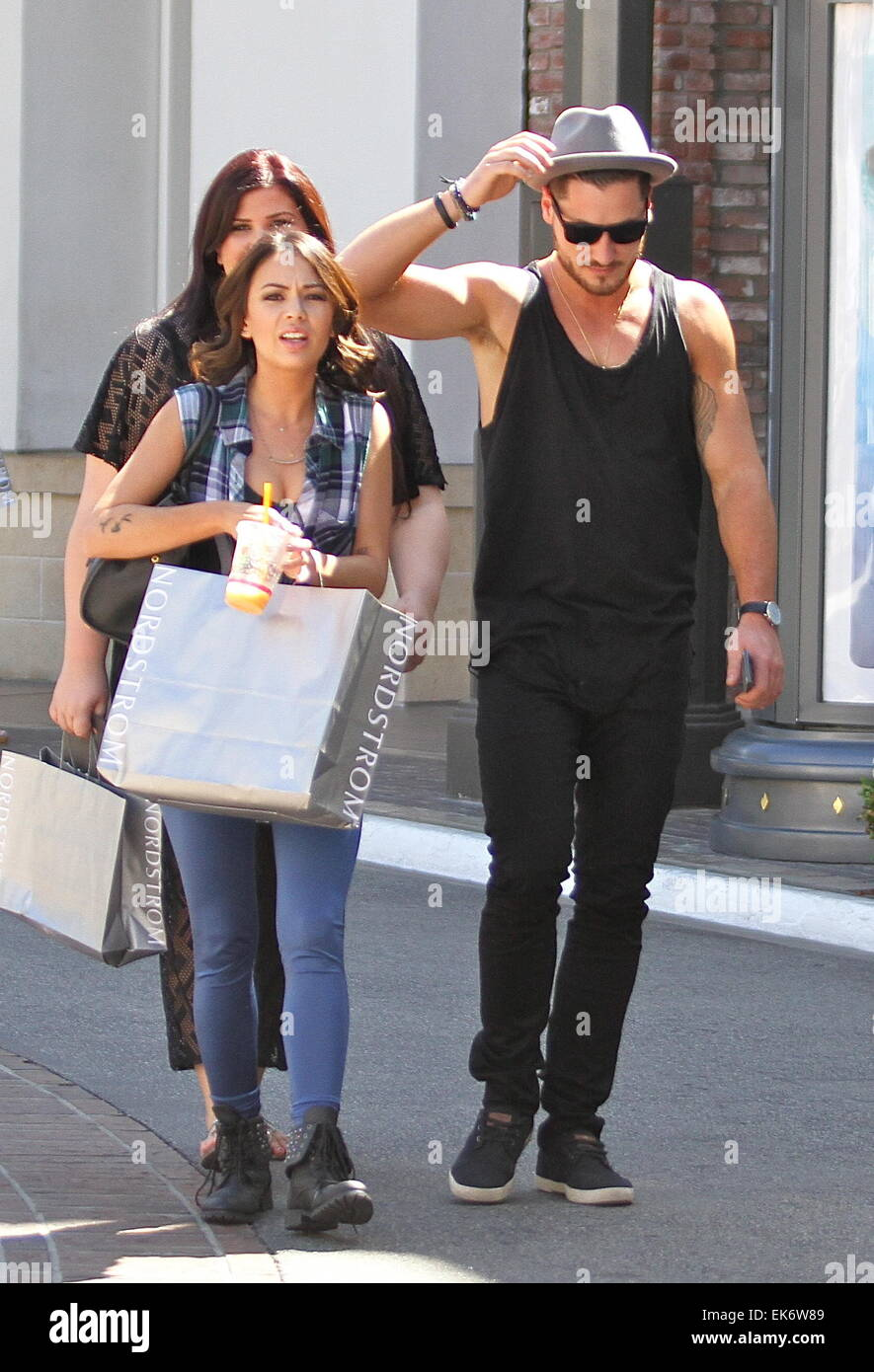 dwts week 6 janel parrish and val dating