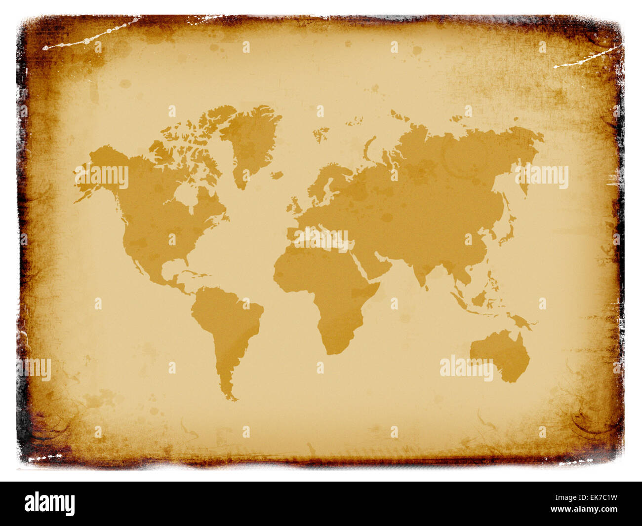 Ancient world map grunge background stock photo royalty free image ancient world map grunge background gumiabroncs Gallery